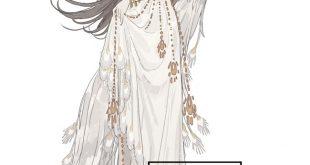 二次元美图绘画插图之羽衣曲🌸依次是白孔雀、蓝孔雀、丹顶鹤、凤凰、…插图