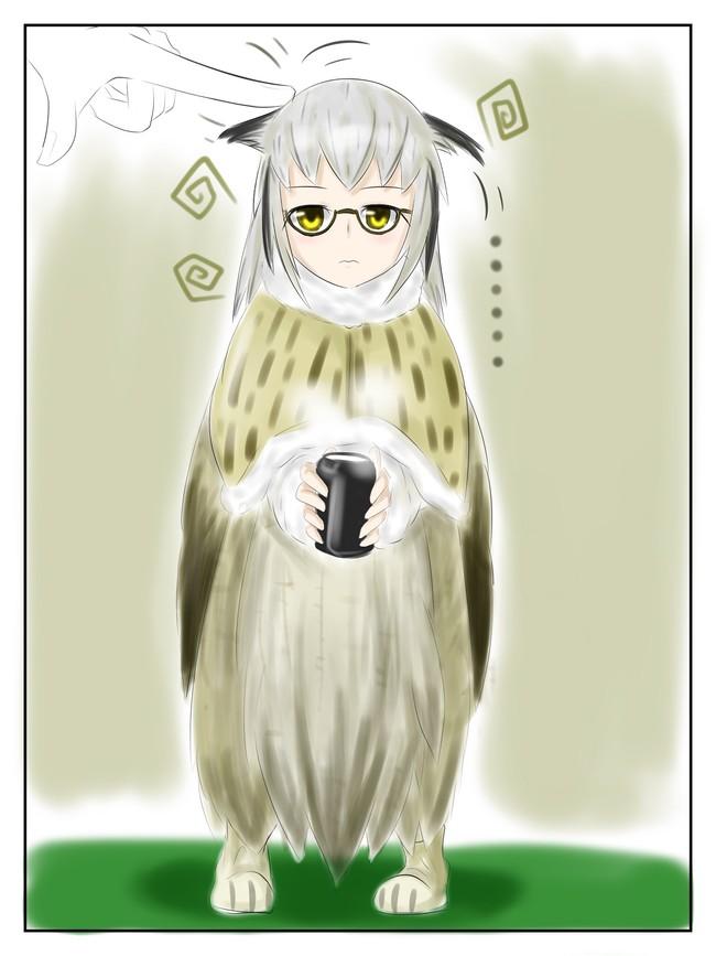 二次元美图绘画插图之所以猫头鹰的腿到底有多长呢!插图(2)
